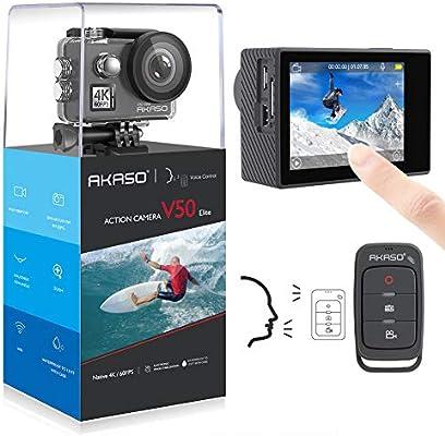 Amazon.com: AKASO V50 Elite 4K/60fps 20MP WiFi Cámara de ...