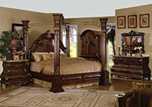 Inland Empire Furniture California King Size Crown Post Canopy Bed