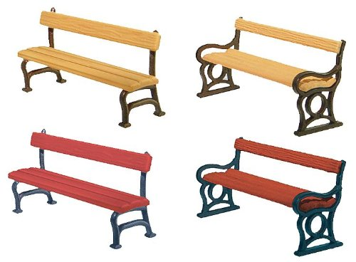 Faller 180443 Park Benches 12/Scenery and Accessories Building (Park Bench Kit)