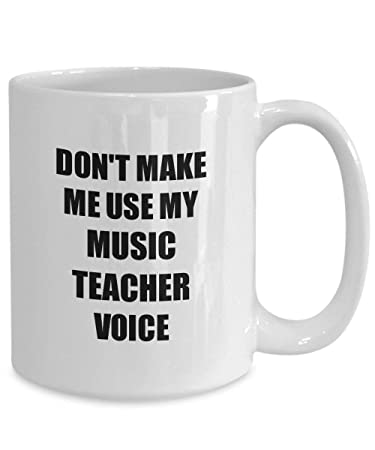 Amazoncom Music Teacher Mug Coworker Gift Idea Funny Gag For Job