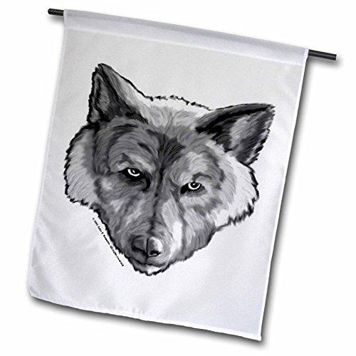 Cheap 3dRose Wolf Head Digital Animal Wildlife Painting – Garden Flag, 18 by 27″