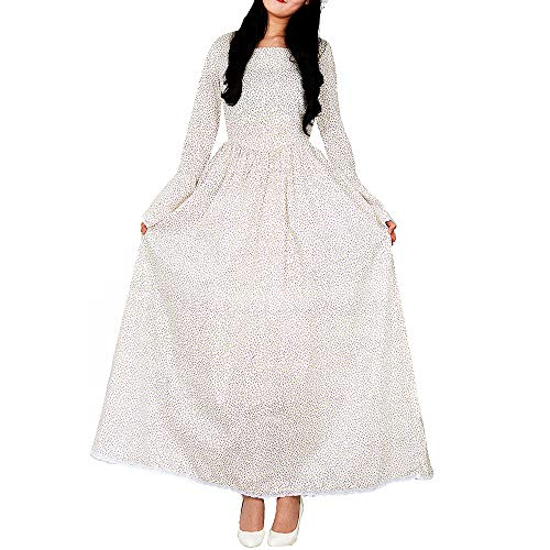 Loli Miss Women's Historical Prairie Dress Pioneer Colonial Costume Victorian Civil War Dresses 2XL White&Purple -