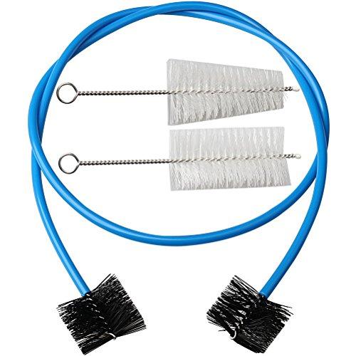 HSAN Mouthpiece Brush,Set of 3 Trumpet Cleaning Kit Brass Mouthpiece Brush Valve Brush Flexible Brush Trumpet Maintenance Cleaning Kit ()