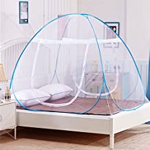 DaTong Pop-Up Mosquito Net Tent for Beds Anti Mosquito Bites Folding Design with Net Bottom for Babys Adults Trip (79 x71x59 inch)