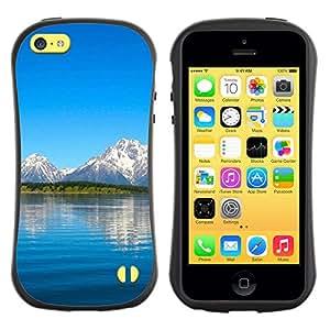 Pulsar iFace Series Tpu silicona Carcasa Funda Case para Apple iPhone 5C , Nature Beautiful Forrest Green 10