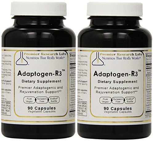 Premier Research Labs Adaptogen-R3-90 Vegetable Capsules (2 Pack) For Sale