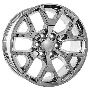 amazon 22 inch gmc ck156 snowflake style truck yukon denali Chevy Tahoe vs GMC Yukon vs Cadillac Escalade amazon 22 inch gmc ck156 snowflake style truck yukon denali sierra chrome wheels automotive