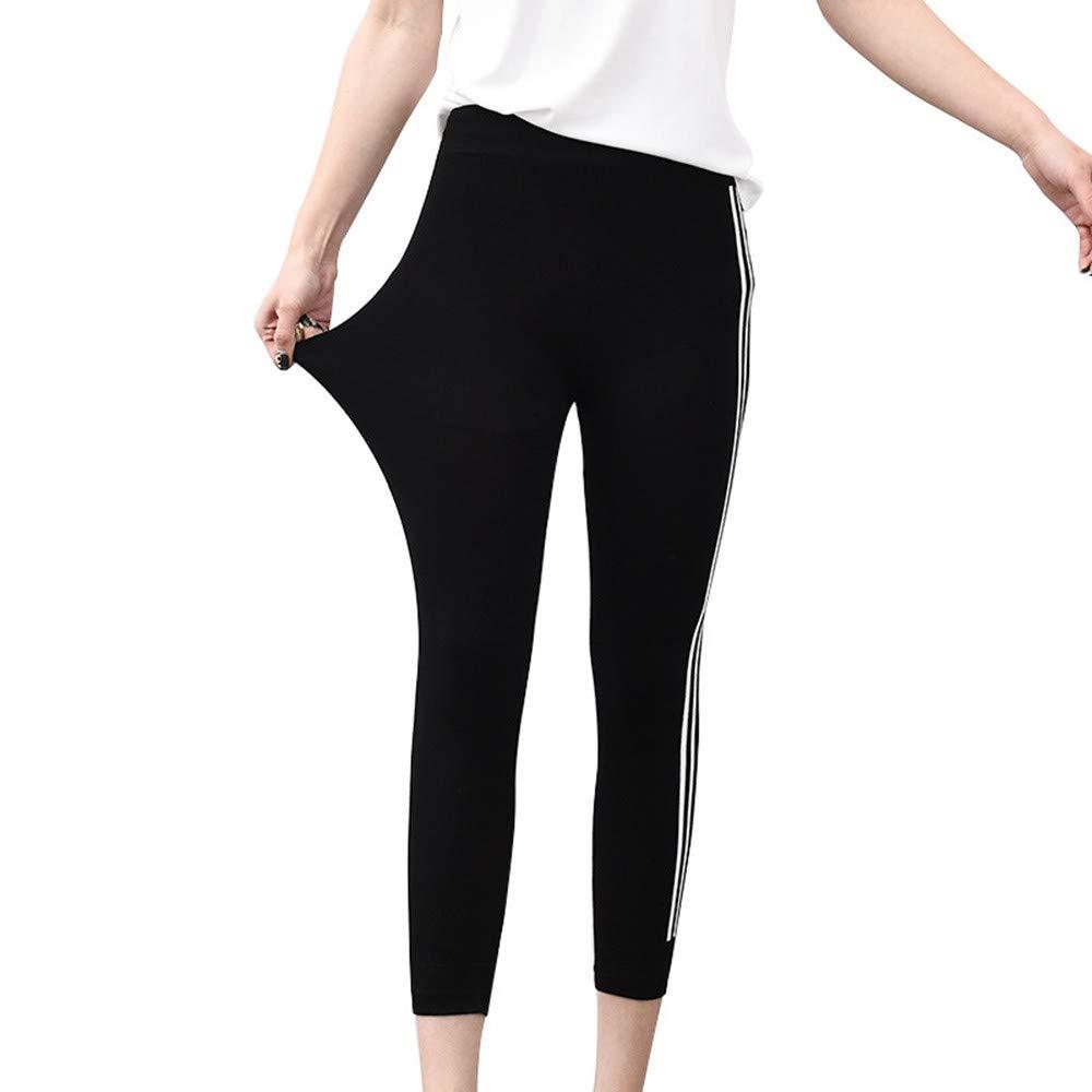 QINB Pantaloni da Yoga Casual da Donna Elasticizzati