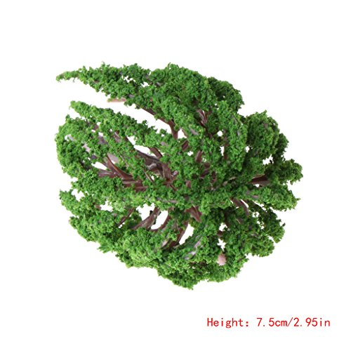 Richi Micro Landscape Fake Tree Miniature Artificial Willow Plant Garden Home Ornament Decor