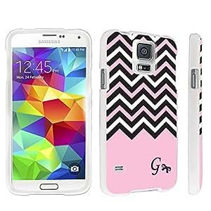 DuroCase ? Samsung Galaxy S5 Hard Case White - (Black Pink White Chevron G)