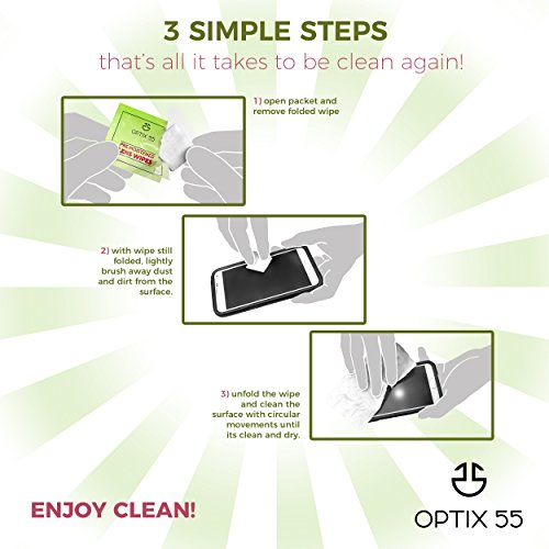 Pre-Moistened Lens Cleaning Wipes - 400 Cloths - Safely Cleans Glasses, Sunglasses, Camera Lenses, and Electronic Quickly & Efficiently - Travel - by Optix 55 by Optix 55 (Image #3)