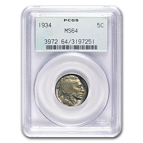 1934 Buffalo Nickel MS-64 PCGS Nickel MS-64 PCGS