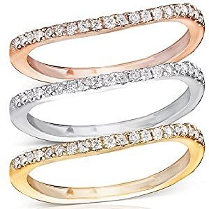 Round Brilliant Diamond Curved Wedding Band 1/6 Carat (ctw) in 14K Gold, Size 11, White Gold