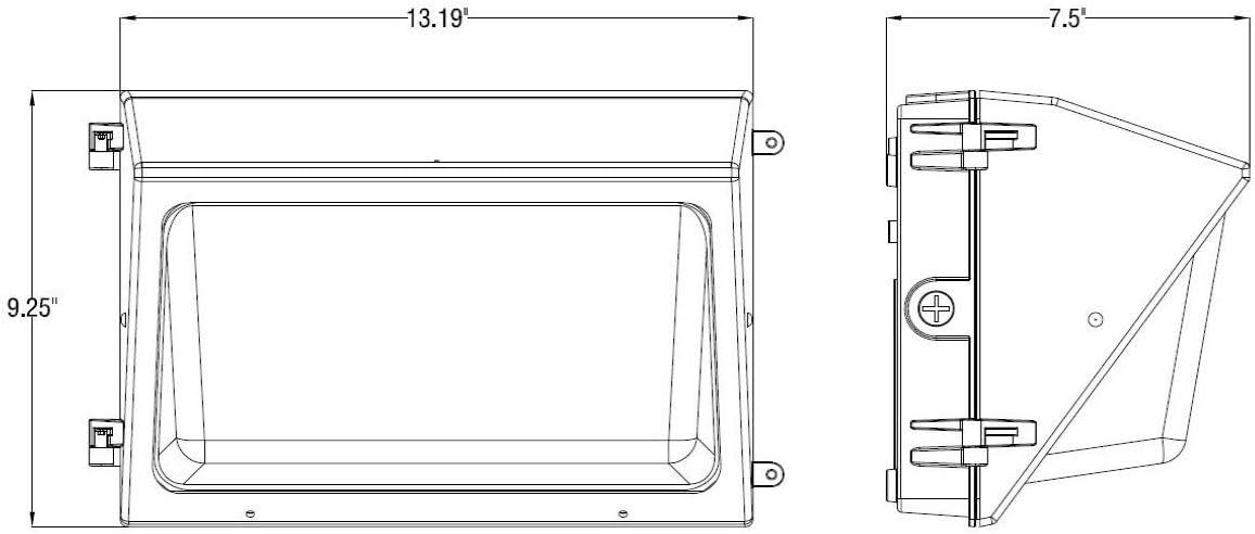Warelight geführt Wand Pack   60 Watt   120-277V   7100 Lumens   5000K   Dlc Listed   Life: 50000 Hours   5 Jahr Warranty   Replaces 100W Metal Halide