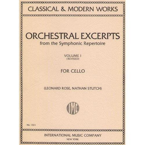 Orchestral Excerpts Volume 1 Cello edited by Leonard Rose and Nathan Stutch - International Music