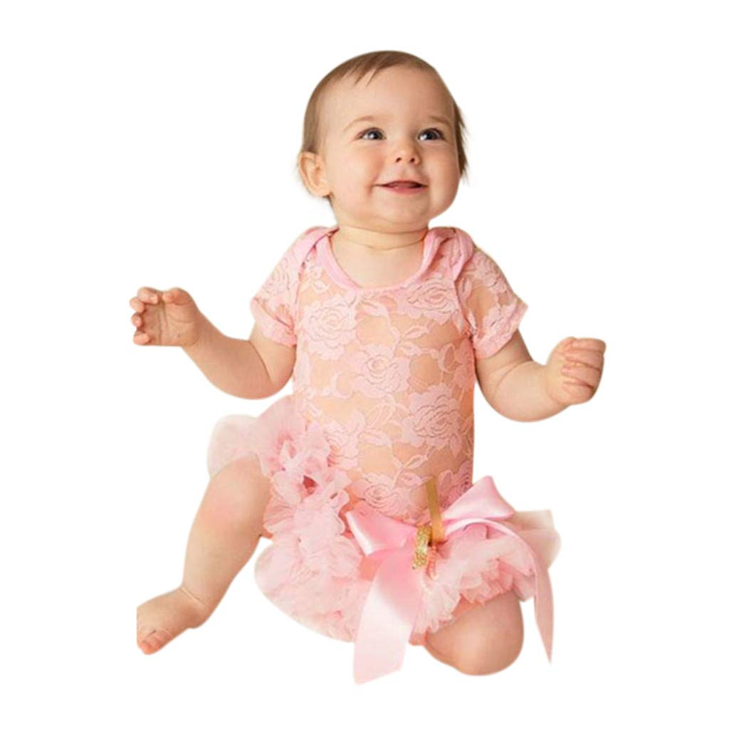 ac299473ccd7 Amazon.com: NUWFOR Newborn Kids Baby Girl Outfits Clothes Lace Tulle Romper  Jumpsuit Princess Dress: Clothing