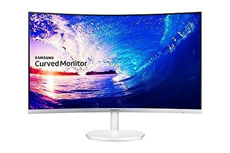 Samsung – C27F581 – Ecran Incurvé – Dalle VA – 27 Pouces – (1920 x 1080, 16:9, 1 port HDMI) – Blanc Brillant