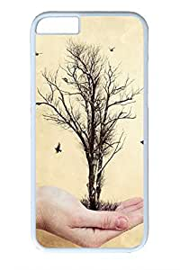 iPhone 6 Plus Case, Personalized Protective Hard PC White Case Cover for Apple iPhone 6 Plus(5.5 inch)- Tree In My Hand
