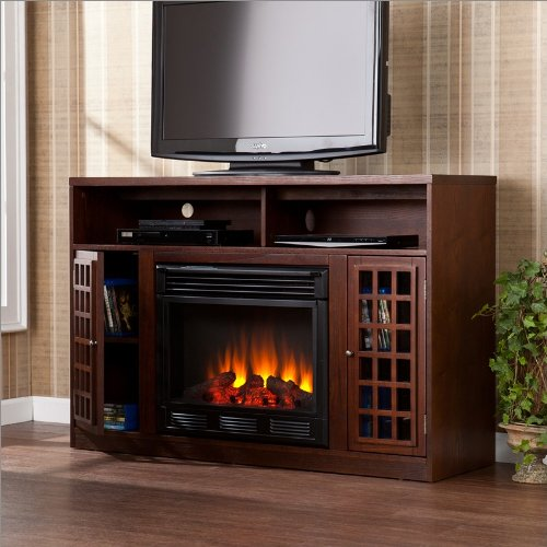 Southern Enterprises Astoria Media Electric Fireplace