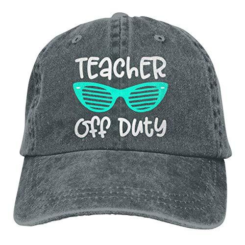 (Women's Men's Adjustable Baseball Cap Teacher Off Duty Sports Hat,Deep Heather,One Size)