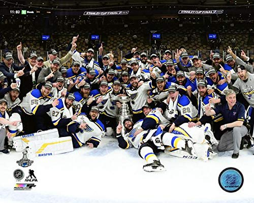 The St. Louis Blues On The Ice Team Photo After Winning The 2019 Stanley Cup. 8x10 Photo Picture (tm)