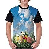 Vintage T-Shirt,Eggs on Grass Open Skyline Fashion Personality Customization
