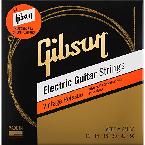 Vintage Reissue Electric Guitar Strings (Medium) from Gibson Gear