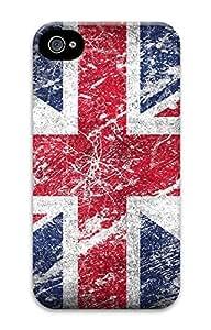 iPhone 4 4S Case British Flags 3D Custom iPhone 4 4S Case Cover