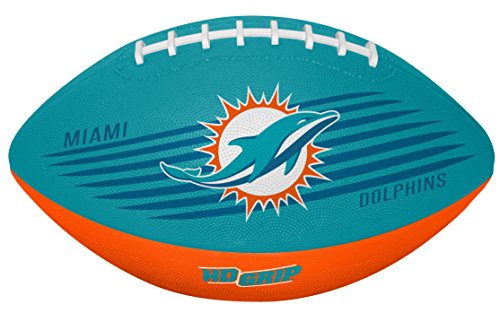 (Rawlings NFL Miami Dolphins 07731074111NFL Downfield Football (All Team Options), Blue, Youth)