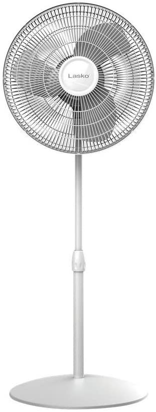 LASKO S16201 Oscillating Stand Fan, 16-Inch