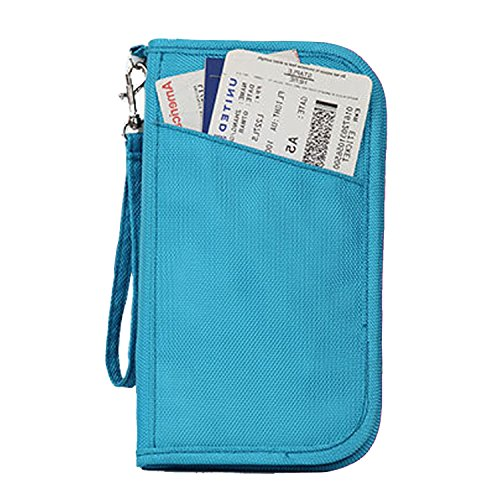 Travel Document Wallet With Hand Strap (Blue) - 8