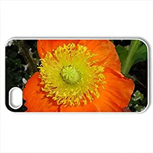 papavero - Case Cover for iPhone 4 and 4s (Flowers Series, Watercolor style, White)