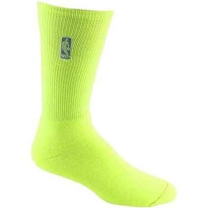 b32aeea1913 Amazon.com   NBA High Profile Neon Crew Socks - Yellow Large Men Size 10-13    Sports Fan Socks   Sports   Outdoors
