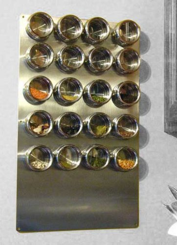 """Stainless Spice Tin Wall Base, 13"""" X 22"""""""