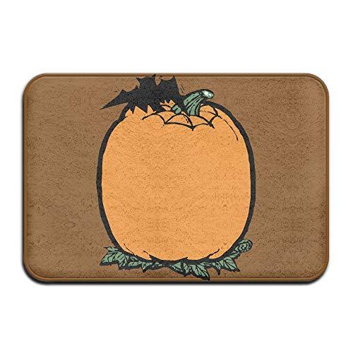 Halloween Pumpkin Bats Indoor Outdoor Entrance Rug Non Slip Floor Mat Doormat Rugs for Home -