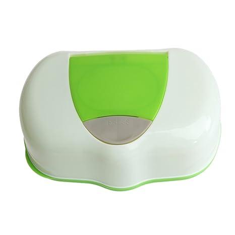 Uminilife - Organizador de pañuelos para bebé, con dispensador de toallitas húmedas verde verde