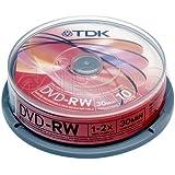 20Mini Disques TDK DVD-RW 8cm 1.4Go pour caméscope/Handycam Utilisation