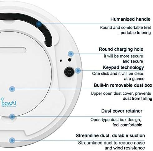 Robot Aspirateur et Mop, Mops Robot de Nettoyage Sol, connectivité WiFi, Robot Aspirateur avec Plusieurs Modes de Nettoyage,Blanc Gray