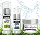 Anti Aging Skin Care Kit Skin Care Products for Anti Aging - Facial Treatments for the Skin - The Most Effective Skincare for Wrinkles - Hyaluronic Acid Serum  Eye Wrinkle Gel - Anti Aging Skin Cream - 3 Piece Kit