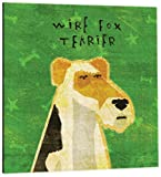 Tree-Free Greetings 60992 Premium Square Eco Magnet, 3.5-Inch, Wire Fox Terrier