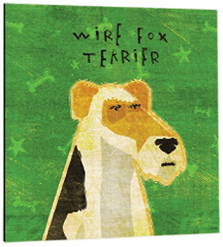 Tree-Free Greetings 60992 Premium Square Eco Magnet, 3.5-Inch, Wire Fox Terrier (Fox Magnet Terrier)