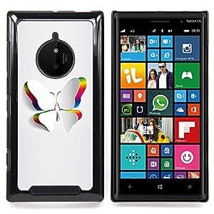 Minimalist Beautiful White Butterfly Caja protectora de pl??stico duro Dise?¡Àado King Case For Nokia Lumia 830