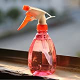 Gillberry Empty Spray Bottle Plastic Watering The Flowers Water Spray For Salon Plants (red)