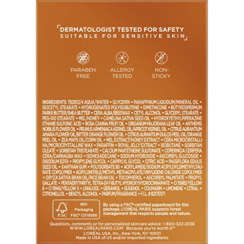 51M0hZ0xxpL - Night Cream by L'Oreal Paris, Age Perfect Hydra-Nutrition Night Balm Face Moisturizer with Manuka Honey Extract and Nurturing Oils to Comfort and Improve Resilience on Dry Skin, Paraben Free, 1.7 oz.