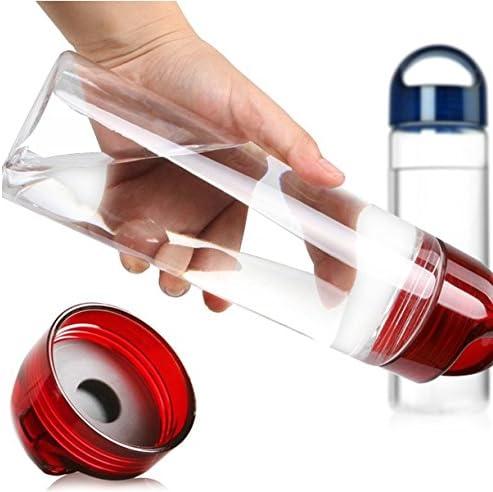 Plastica Tritan Senza BPA per gli sport e per le attivit/à all/'aperto FunRun 700ml Frutta Acqua Bottiglia Infusioni Borraccia Infusore Perfetta per depurare lorganismo