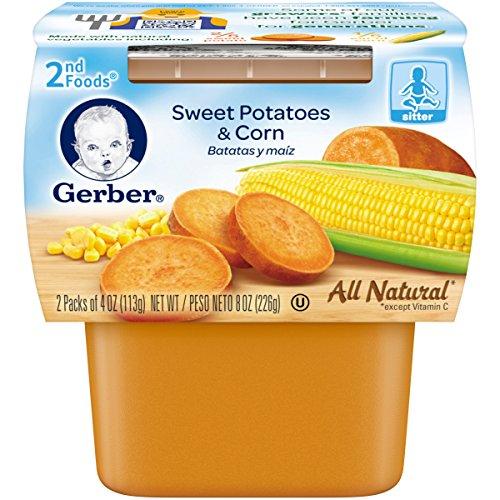 Gerber 2nd Foods NatureSelect, Sweet Potato & Corn, 7 (2nd Sweet Potato)