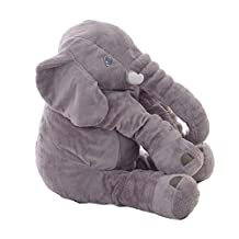 Sealands Long Nose Big Stuffed Cute Elephant Doll Super Soft Plush Stuff Toys Lumbar Cushion for Baby, Kids and Adult Pillow