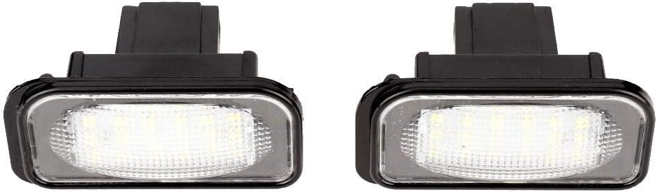 A2038200066 EBTOOLS 1 par de 18 LED L/ámpara de luz de matr/ícula de coche apta para W203 W211 W219 A2038200556 2038200066