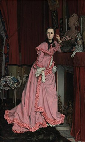 Oil Painting 'Portrait Of The Marquise De Miramon, Nee, Therese Feuillant,1866 By Jacques Joseph Tissot' 18 x 30 inch / 46 x 76 cm , on High Definition HD canvas prints, Basement, Bed Room And decor