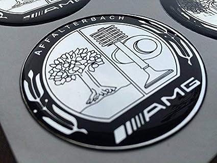 YEOOL 4 pi/èce 75mm Cache Moyeux Enjoliveurs de Roue Logo Wheel Caps Covers pour Mercedes-Benz Noir
